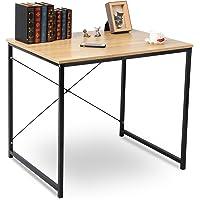 WOLTU #1189 Holz mit Eisen-Gestell Computertisch Bürotisch Schreibtisch PC Tisch Arbeitstisch Esstisch Große Desktop Design