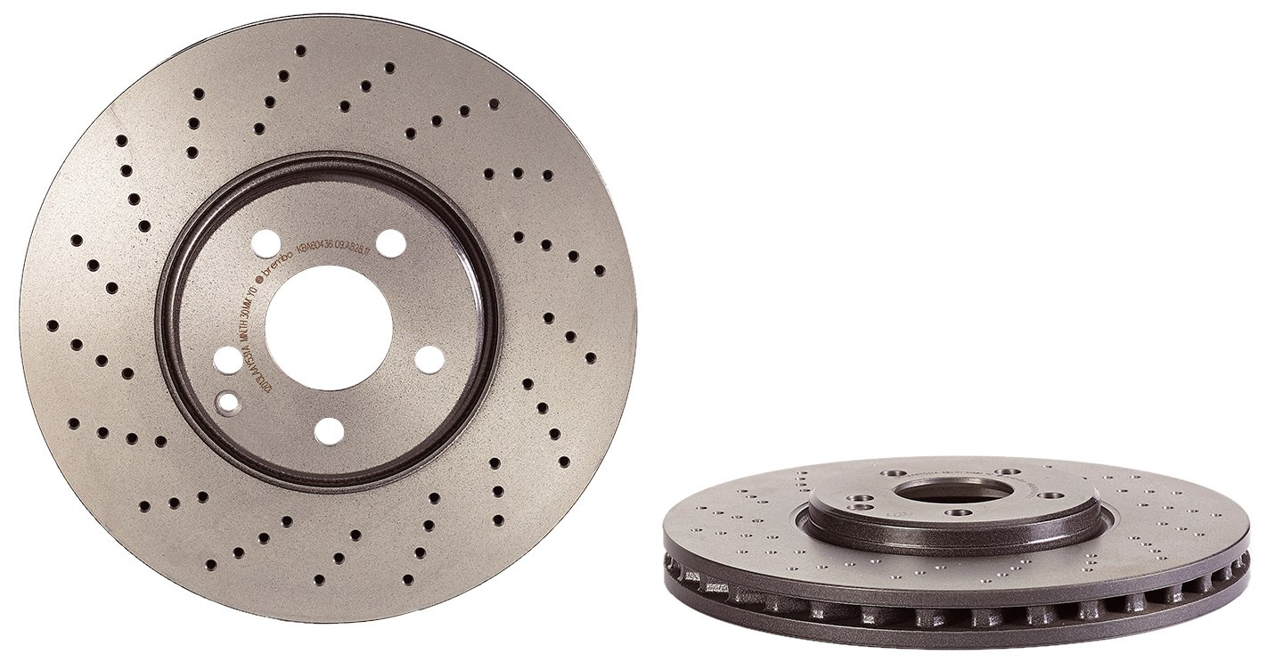 Brembo 09.A828.11 UV Coated Front Disc Brake Rotor
