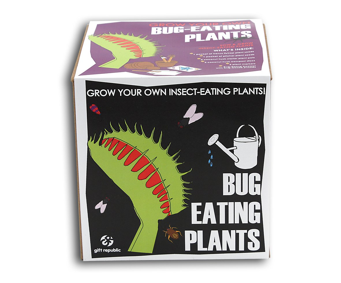Gift Republic Ltd Sow And Grow Bug Eating Plants GR120001 Growing kit Seeds and Plants childrens