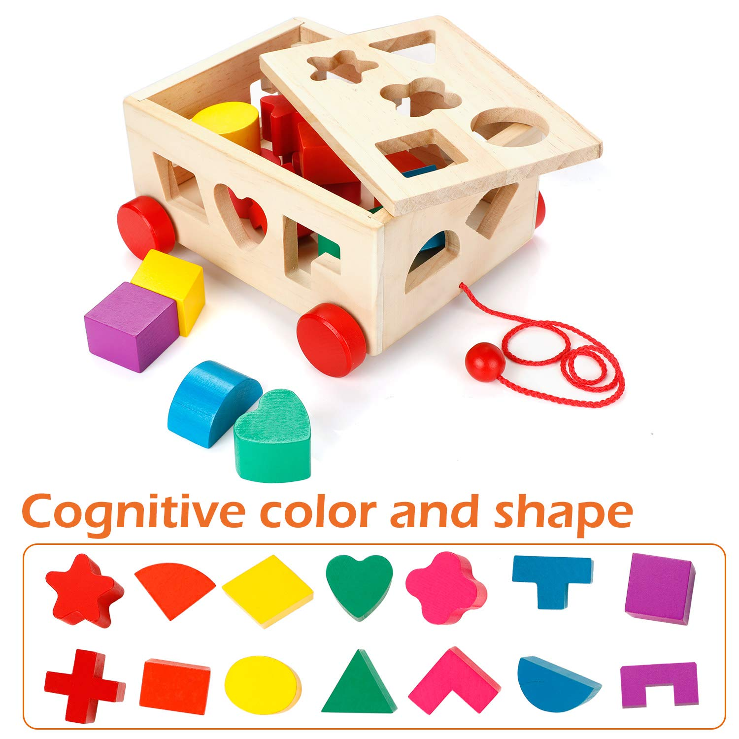 Shapes & Colours Educational Toys MojiDecor Preschool Bee Hive Wooden Toys,Bee Toy Wooden Bee Game Motor Skills Toys Bee Wooden Toy Early Educational Bee Toys