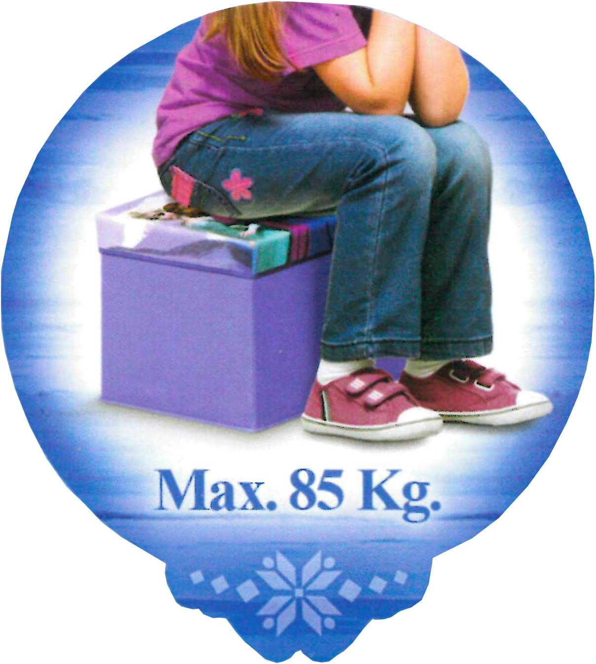 Brandsseller Bo/îte de Rangement pour Enfant avec Couvercle Motif Princesse glac/ée Disney