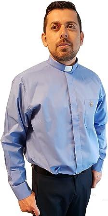ANCORA INDUMENTA Camisa Sacerdote Clergyman - Manga Larga: Amazon.es: Ropa y accesorios
