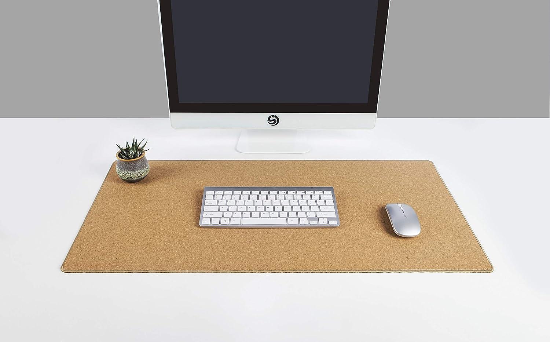 "YSAGi Multifunctional Office Writing Cork Desk Pad, Waterproof & Slipproof Desk Protector Mat for Office/Home (Cork 31""x15.4"")"