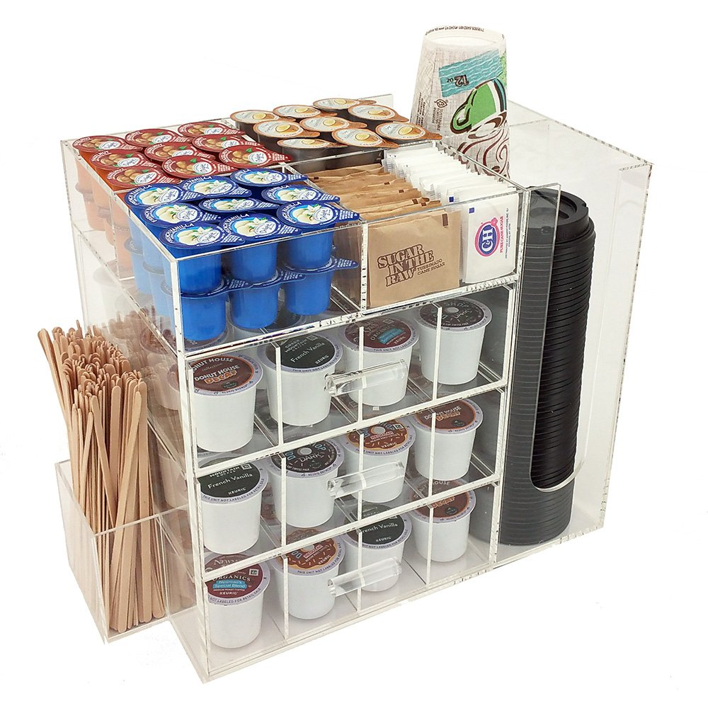 OnDisplay Acrylic Coffee Station with Drawers for Keurig K-Cup Coffee Pods