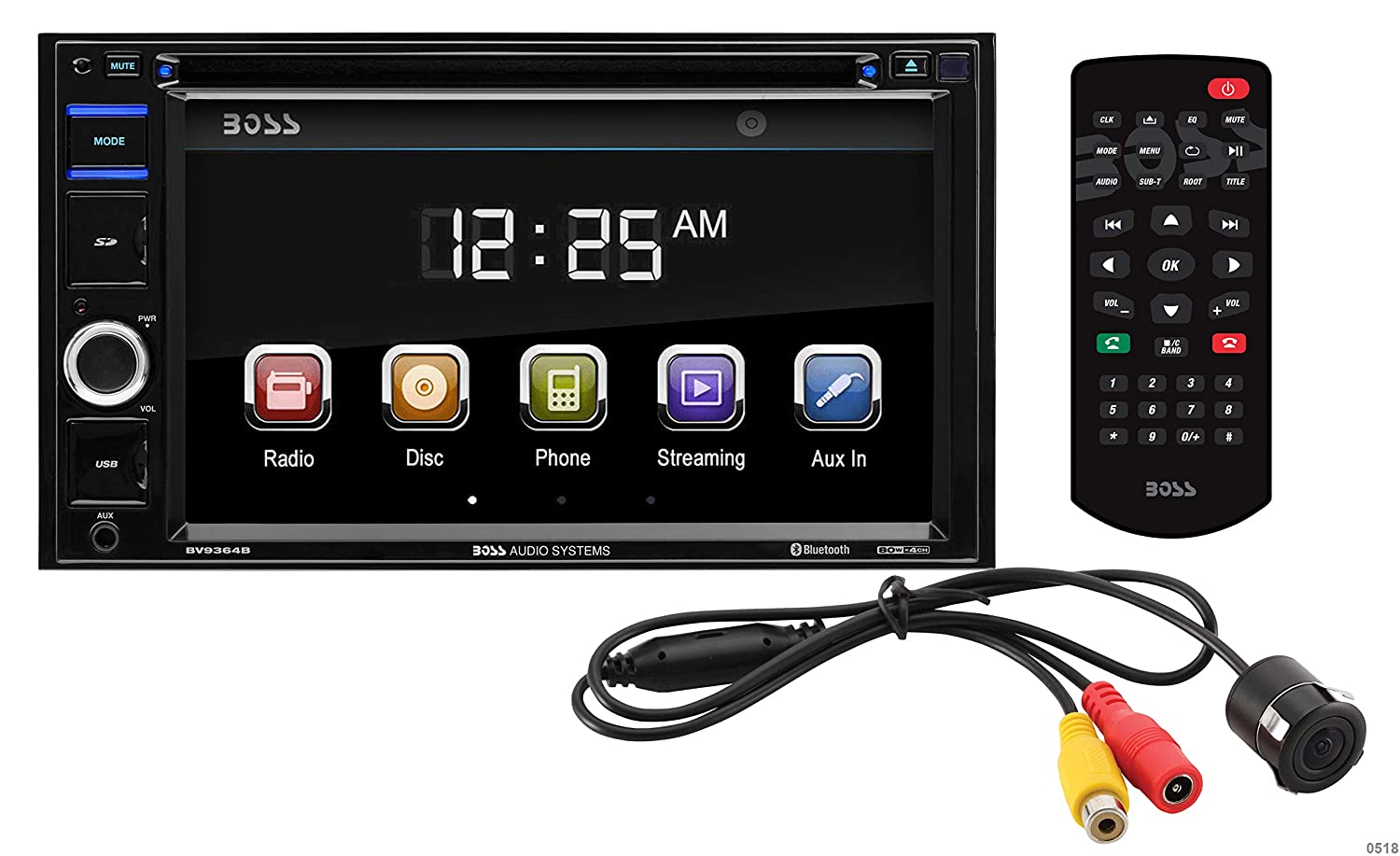 Boss Audio Bvb9364rc Double Din Touchscreen Bluetooth Radio Bv9364b Wiring Harness Dvd Cd Mp3 Usb Sd Am Fm Car Stereo 62 Inch Digital Lcd Monitor Wireless Remote