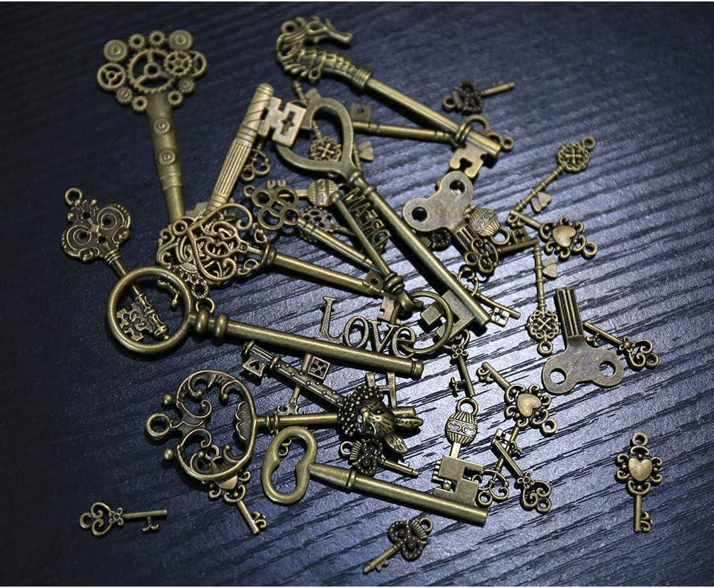 24pcs Antiqued Bronze Legierung Charm Anhänger Schlüssel Schmuck Zubehör Charms