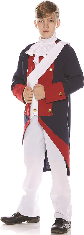 UNDERWRAPS Little Boy's Little Boy's Revolutionary Soldier Costume Set Childrens Costume, Multi, Medium