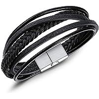 JUPPE Handmade Braided Rope Leather Bracelet Classic Personalized Bangle Unisex Gift