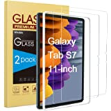 SPARIN 2 Pack Screen Protector Compatible with Samsung Galaxy Tab S7 11 inch, Tempered Glass, Alignment Frame