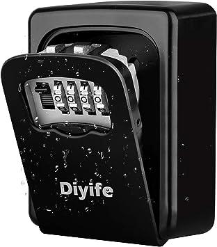 Diyife Caja Fuerte para Llaves, [Versión actualizada] [Montado en la pared] Llave combinada Caja de bloqueo de almacenamiento seguro para el hogar Garaje Escuela Llaves de repuesto de la casa: Amazon.es: Bricolaje