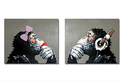 Dipinti Murali E Pittura Ad Ago : Fokenzary dipinta a mano pittura a olio su tela ascoltare musica
