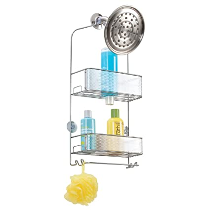 Mdesign Bathroom Shower Plastic Suction Cup Hooks For Razor Loofah
