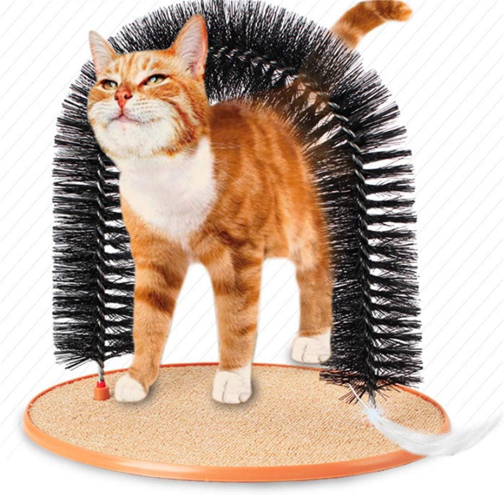 T-MIX.W Rascador de Gato y Cepillo de Aseo: autoportante y ...
