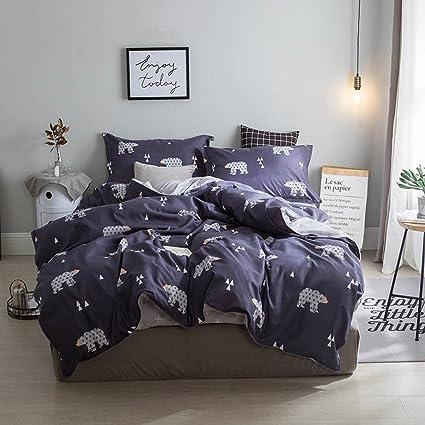Amazon Com Hxiang 3 Pieces Polar Bear Kid S Bedding Set Bedding 100