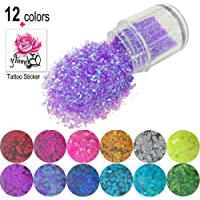 12 Colors Chunky Face Glitter, Starlife Cosmetic Sparkle Hexagon Paillette Glitter for Face, Eyeshadow, Body, Hair, Nail and Festival Makeup