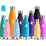 KollyKolla Botella de Agua Acero Inoxidable - 350ml/500ml/650ml/750ml, Termo Sin BPA Ecológica, Botellas Termica…