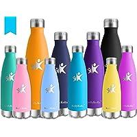 KollyKolla Bottiglia Acqua in Acciaio Inox - 350/500/650/750ml, Senza BPA, Borraccia Termica Isolamento Sottovuoto a Doppia Parete, Borracce per Bambini, Scuola, Sport, All'aperto, Palestra, Yoga