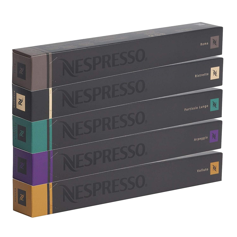 Nespresso Cápsulas originales Caffe Surtido, 50 Cápsulas - 10 x ...
