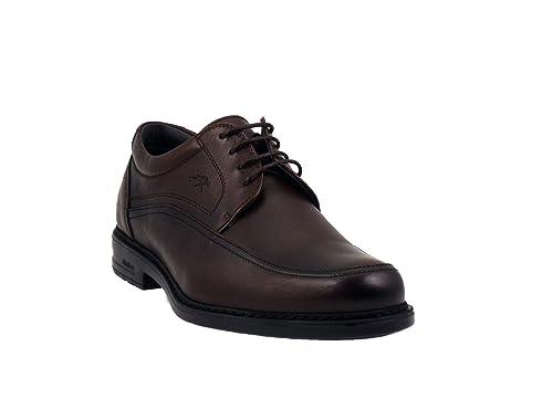 Fluchos Zapatos de Cordones Para Hombre, Marrón (Café), 44