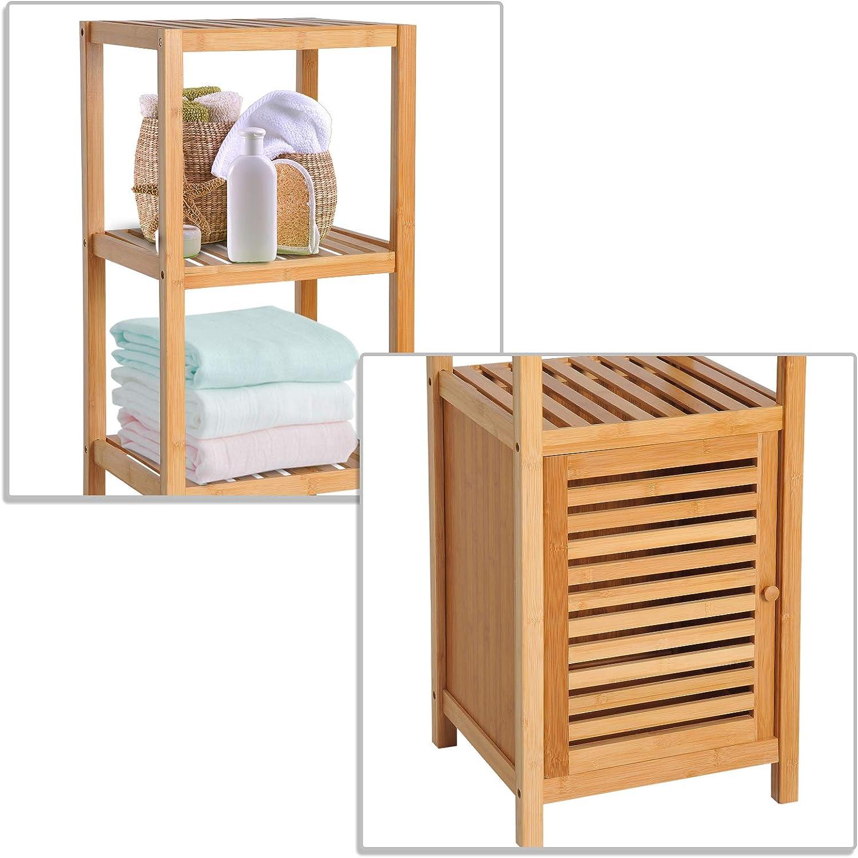 HOMCOM – Mueble Columna de Almacenamiento para Cuarto de baño de ...