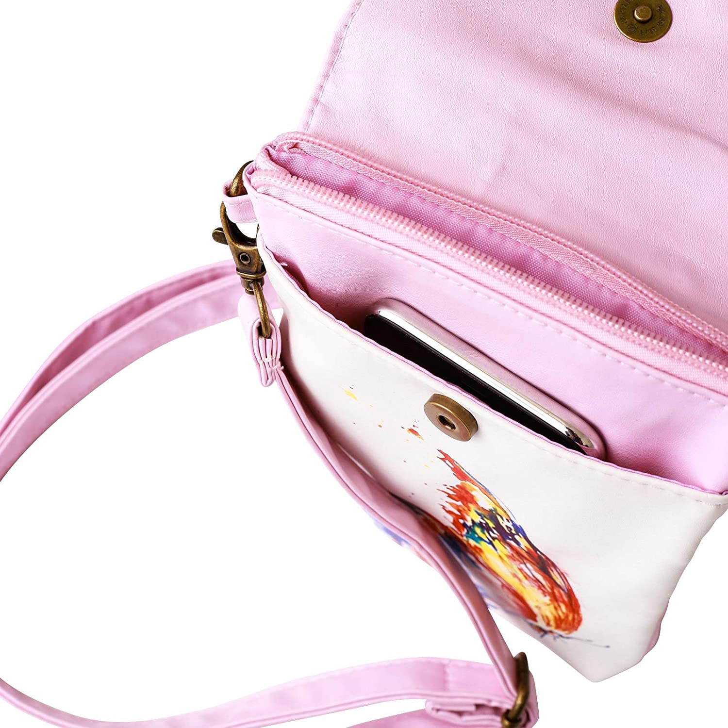 Girls Purse and Phone Bag With Matching Coin Purse and Matching Sketchbook