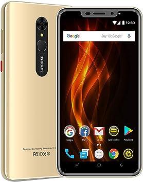 """Moviles Libres 4G, AOYODKG A9+ Android 9.0 Smartphone Libre, 16GB ROM/128GB 5.5"""" HD+ Pantalla 4800mAh, Cámara 8MP Touch ID y Face ID Dual SIM GPS Móviles y Smartphones Libres (Oro): Amazon.es: Electrónica"""