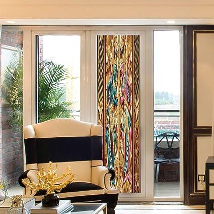 Amazon Com Decorative Window Film Balinese Decor For