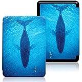 Capa para o Kindle 10a geração (aparelho com iluminação embutida) - rígida - sistema de hibernação - Baleia