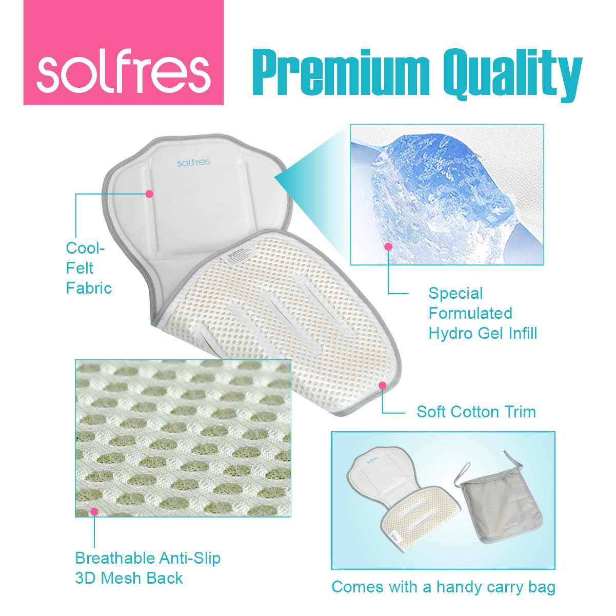 Amazon.com: Solfres Hydro Gel - Colchoneta para asiento de ...
