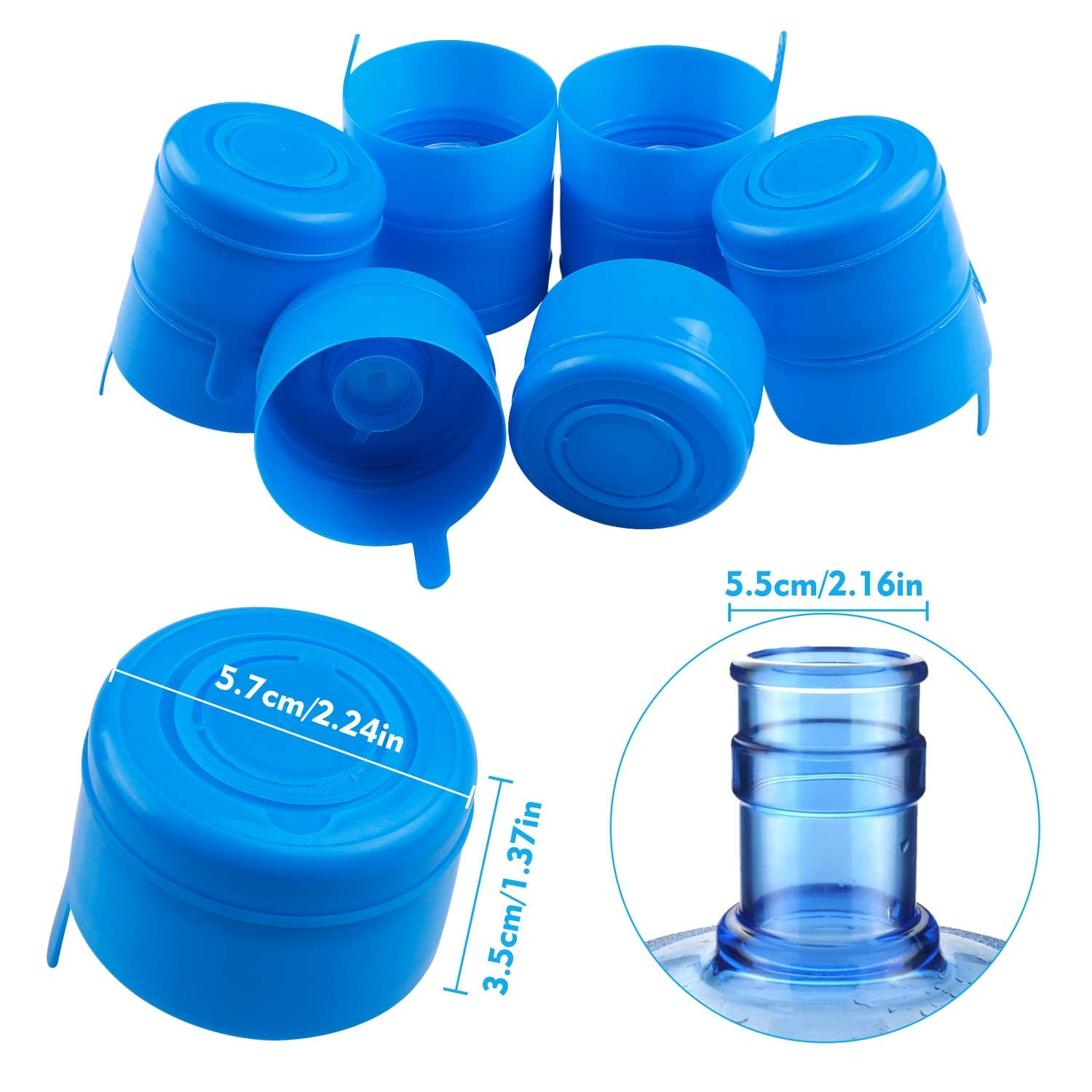 American Maid Replacement Water Bottle Caps2 Pack53 mmBPA FreeNEW