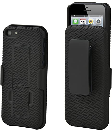 wholesale dealer 248c2 7d2b0 Amazon.com: Aduro Shell Holster Combo Case for Apple iPhone SE / 5 ...