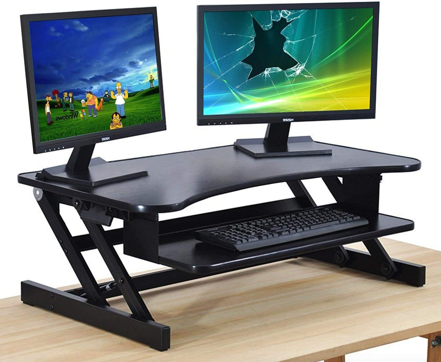 Height Adjustable Sit to Stand Up Desk converter