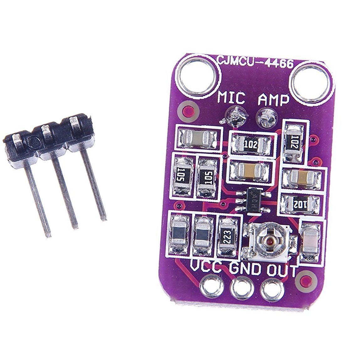 Rees52 Max4466 Electret Microphone Amplifier Adjustable Gain For Arduino Industrial Scientific