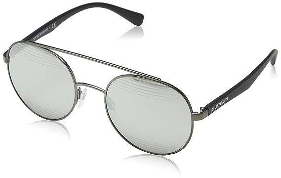 bf56e8b627e Image Unavailable. Image not available for. Color  Emporio Armani EA2051  30106G Matte Gunmetal EA2051 Round Sunglasses Lens Catego