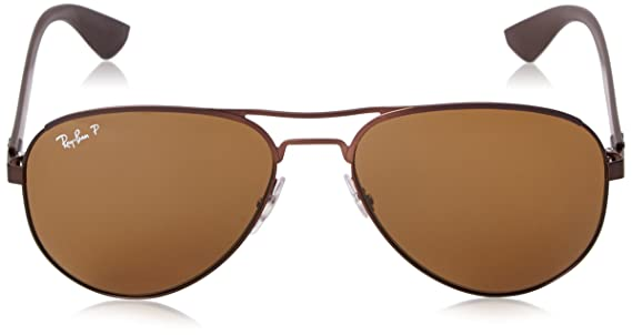 1cce84229d5 Ray-Ban Aviator Sunglasses (Brown) (RB3523 012 83 59)  Amazon.in  Clothing    Accessories