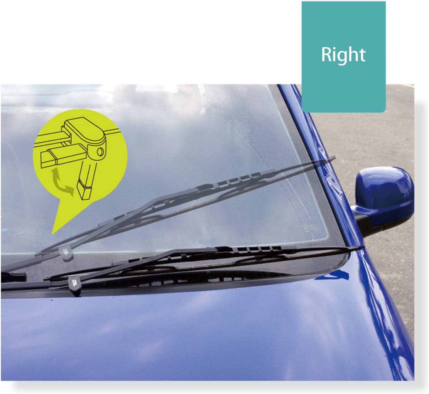 Hypersonic Car Windshield Wiper Stand Blade Universal Mount for Right HP6405