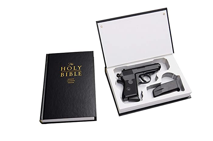 Amazon com: Concealed Gun Storage - Bible Book Safe for