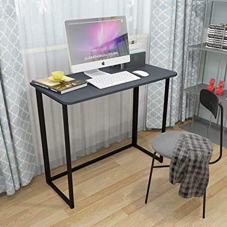 Redd Royal Folding Computer Desk Collapsible Home Office Study Pc Laptop Desk For Small Space Workstation Writing Table Furniture Black Furniture Lighting Stationery Office Supplies