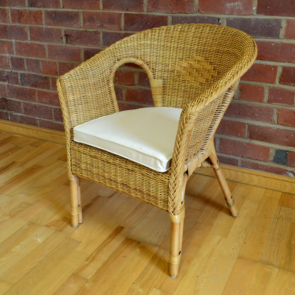 alfresia hand woven rattan bedroom conservatory chair with natural