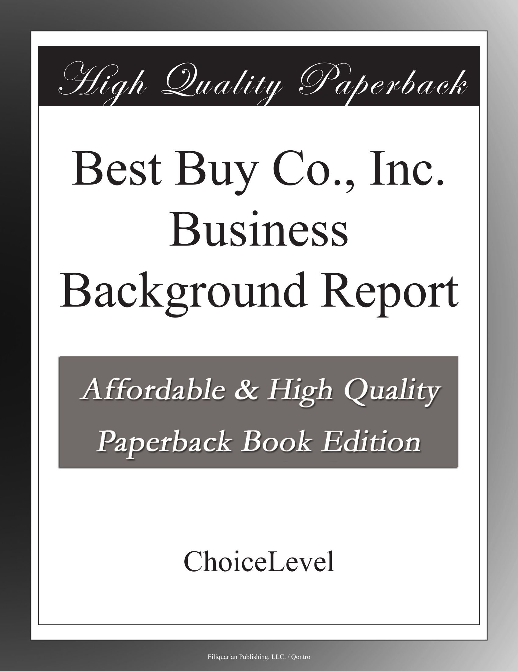Best Buy Co., Inc. Business Background Report PDF