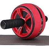 不二良造 腹筋ローラー アブホイール エクササイズウィル スリムトレーナー エクササイズローラー 自宅用腹筋器具 男女兼用 超静音 膝マット付き 耐荷重400KG 取り付け簡単