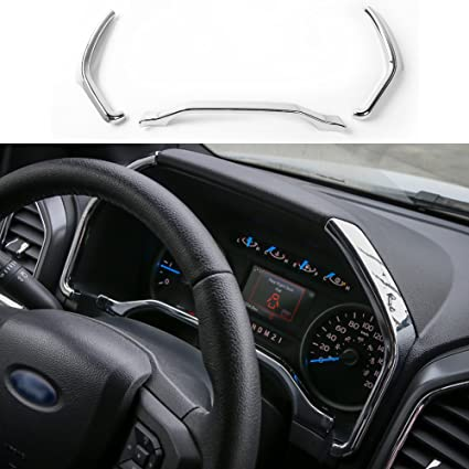 Chrome Car dashboard vent decorative frame Trim for Ford mustang 2015 2016 2017