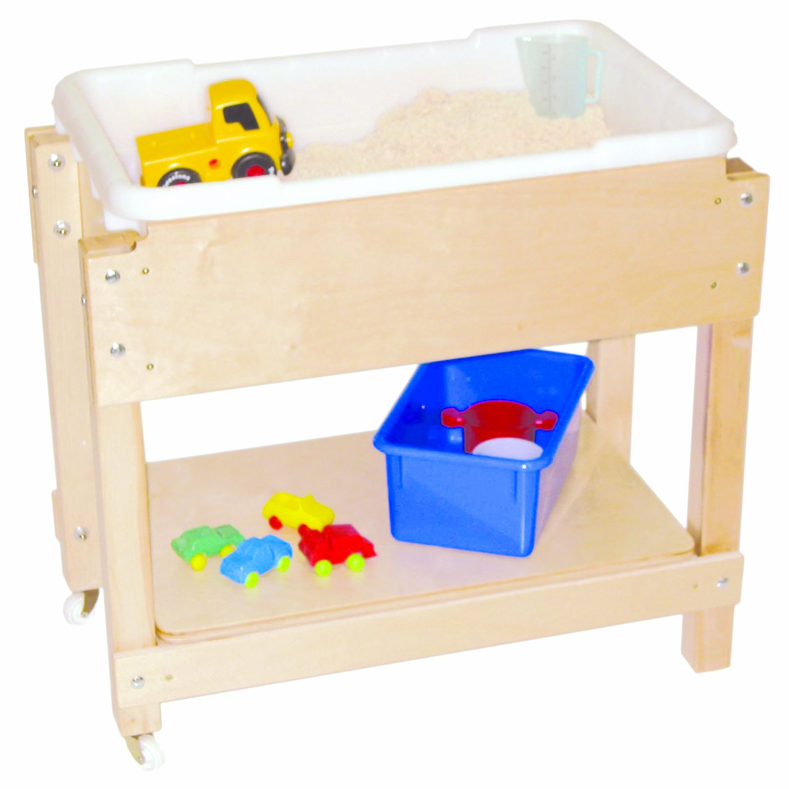 Wood Designs WD11811 Petite Sand and Water Table with Lid/Shelf, 24 x 28 x 15'' (H x W x D)
