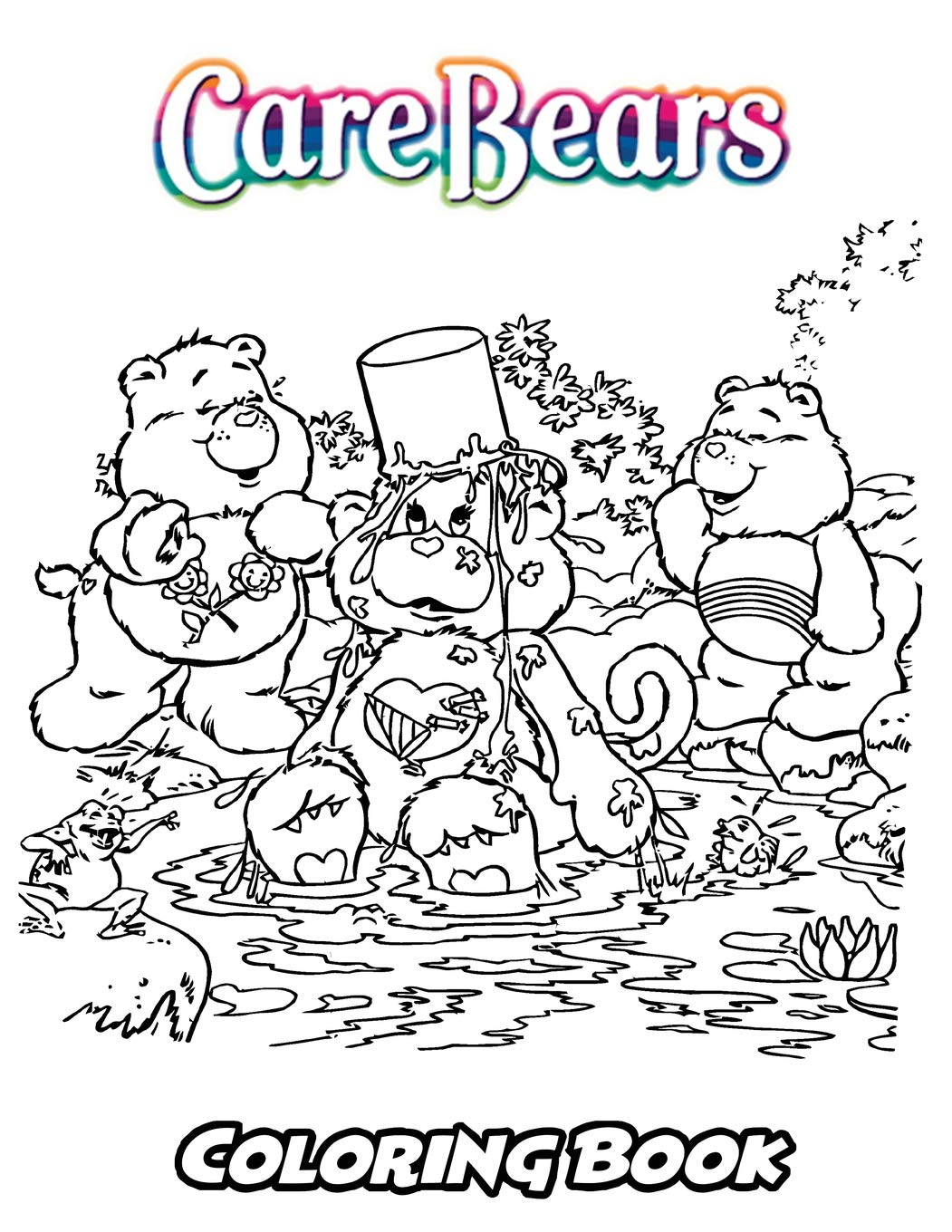 Care bears coloring book coloring book for kids and adults activity book with fun easy and relaxing coloring pages perfect for children ages 3 5 6 8