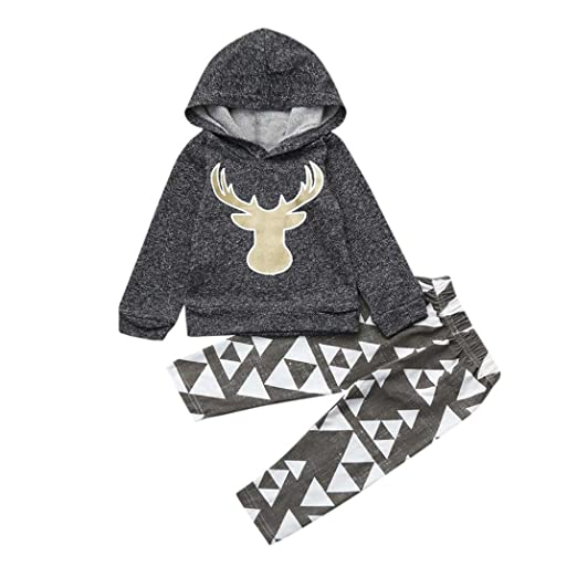 e362b215a Amazon.com: Gallity 2Pcs Toddler Infant Baby Boys Deer Long Sleeve ...