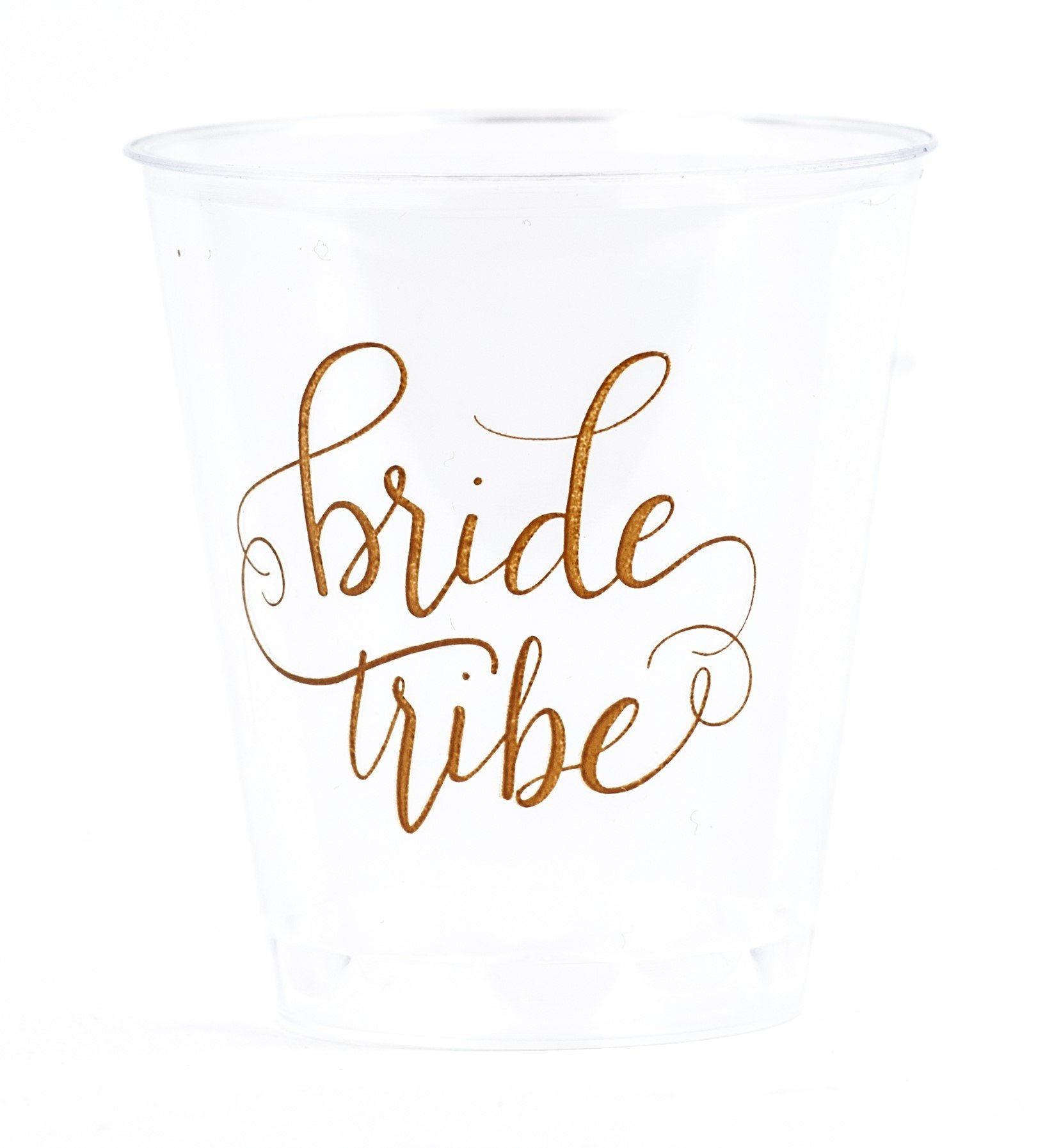 20 PIECE SET of Bride Tribe and Bride Durable Plastic 1.5 oz. Shot Glasses for Bachelorette Parties, Weddings and Bridal Showers - Clear by Samantha Margaret