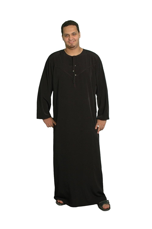 Herren-Kaftan im Omani-Stil, schwarz KAM00390