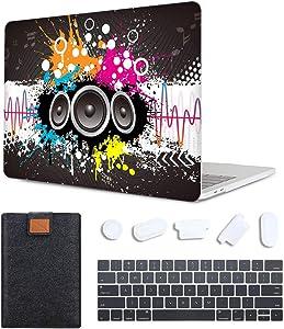 MAITTAO 4 in 1 Bundle Older MacBook Pro 13 inch Case 2012-2015 Release,Plastic Pattern Hard Shell & Laptop Sleeve & Keyboard Cover for Mac Book Pro 13 Retina Display A1502 A1425, Creative Graffiti 1