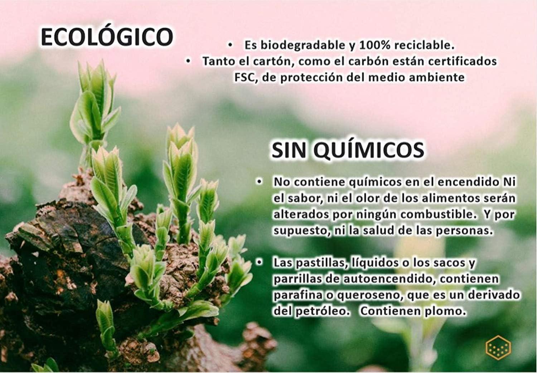Briquetas de Carbón Vegetal para Barbacoa Ecológico y 100% Natural ...