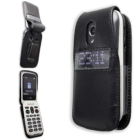 caseroxx – Housse de téléphone Portable à Clip pour Doro 6050 6051 en Cuir  veritable ca83327d289d